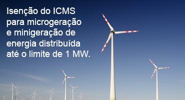 Santa Catarina isenta micro e minigeração de energia solar, hídrica e eólica do ICMS