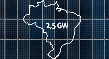 Capacidade fotovoltaica do Brasil supera 2,5 GW